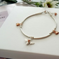 Sterling Silver and Rose Gold Bee Bracelet