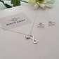 Infinity with love pendant. All sterling silver with free matching stud earrings