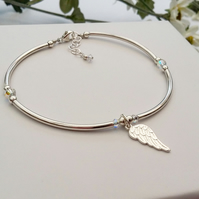 Angel Wings Bracelet with a sparkle of Swarovski crystal