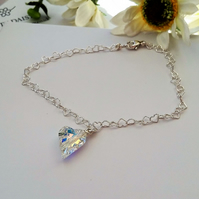 Beautiful Swarovski crystal heart bracelet