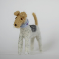 Wire Fox Terrier - Handmade Needle Felt Miniature