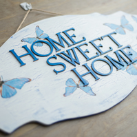 Hand painted & decorated door sign