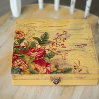 Hand painted & decorated box
