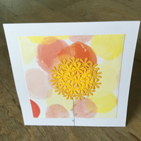 Card with Flower