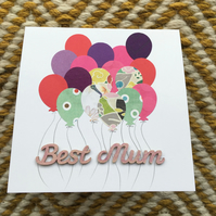Mother's Day Card - Balloons!
