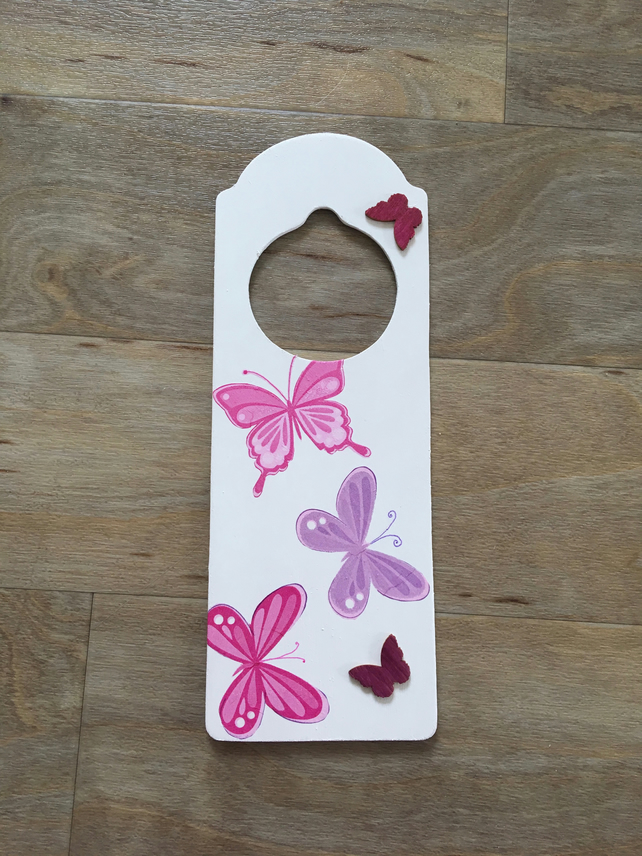 Door sign - Butterflies