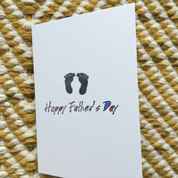 Father's Day Card - Footprints