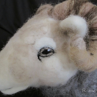 Herdwick Ram Doorstop Needle Felted (price includes p&p)