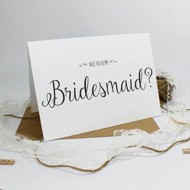 "'Will you be my Head Bridesmaid?"" Card - Personalised"