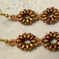 Ancient Gold Beaded Earrings