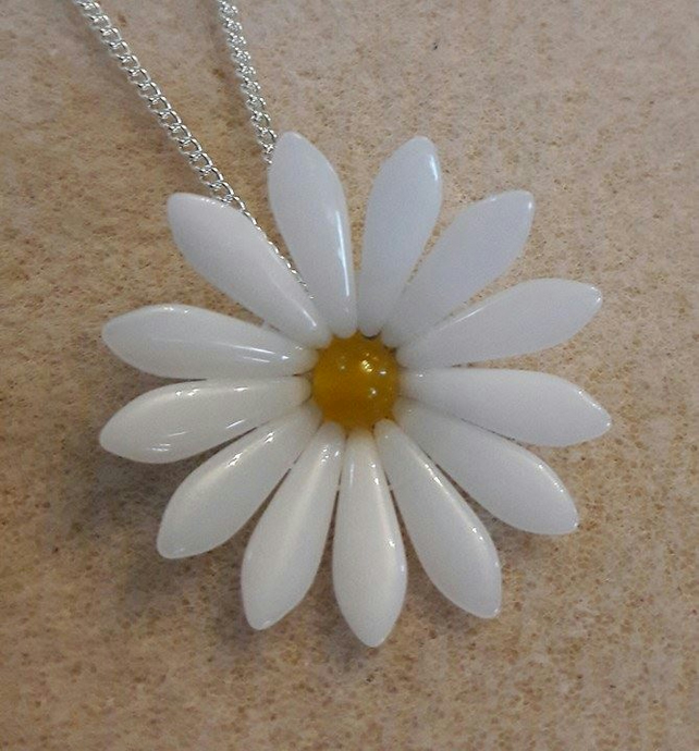 Daisy Flower Memorial Keepsake Jewellery