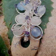 Gemstone Wire work Pendant