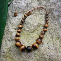 HALF PRICE SALE- Tigers Eye bracelet adjustable
