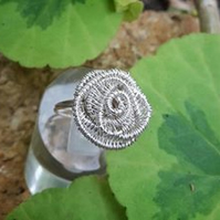 Wire Wrapped Rose Ring custom made