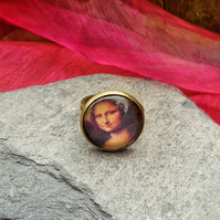 Classic Art Mona Lisa adjustable Ring REDUCED
