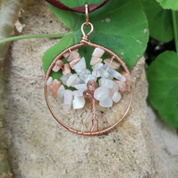 Tree of Life Gemstone Necklace - Moonstone