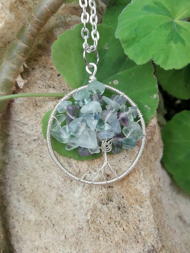 Tree of Life with Fluorite Gemstone