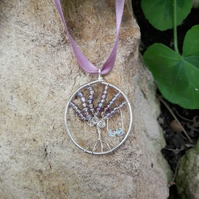 SALE Wire wrapped Tree of life with swing