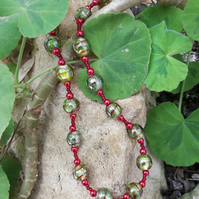 Vibrant Glass Beaded Necklace