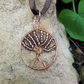 SALE Copper Wire wrapped tree of life Pendant Necklace