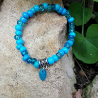Turquoise Stretch Bracelet -REDUCED
