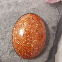 Handmade resin cabochon 40mm oval