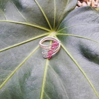 Adjustable Wire wrapped Crystal Ring