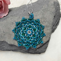 Mandala Beadwork Necklace
