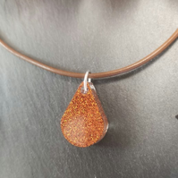 Teardrop Resin Sparkle Pendant