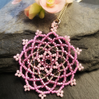 SALE Mandala Beadwork Necklace