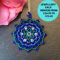 SALE - Mandala Beadwork Necklace