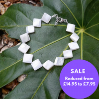 SALE Mother of pearl Bracelet - sterling Silver