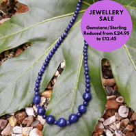 SALE - Gemstone Necklace Sterling Silver clasp