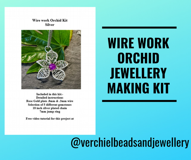 Jewellery Making Kit - Wirework flower
