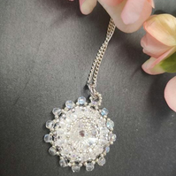 Crystal flower Beadwork Necklace
