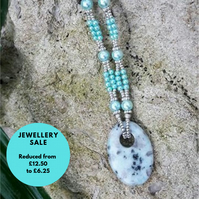 SALE - Jasper and beaded necklace