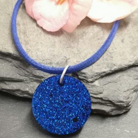 Space blue resin Necklace