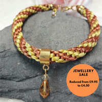 Braided bracelet - golden -REDUCED