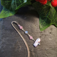 Pearl and Gemstone Bookmark