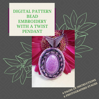 PDF DIGITAL PATTERN - INSTRUCTIONS FOR BEAD EMBROIDERY WITH A TWIST