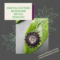 PDF DIGITAL PATTERN - INSTRUCTIONS FOR BEADWORK RIVOLI PENDNT