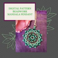 PDF DIGITAL PATTERN - HOW TO MAKE A BEADWORK MANDALA PENDANT