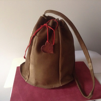 Soft suede leather slouch pouch