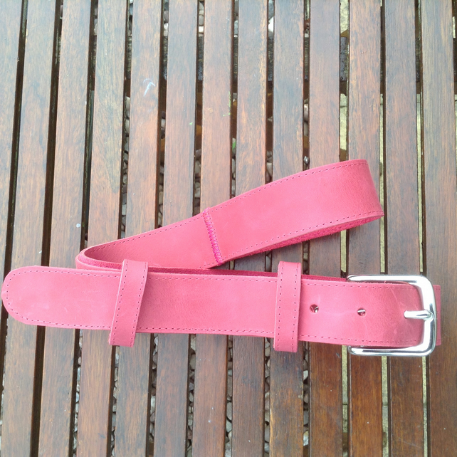 Unique hand crafted coloured quality leather belts