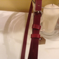 20mm skinny belt with quality nickel buckle in burgundy