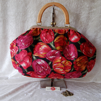 The Betty Frame Bag. Tulips