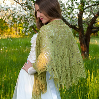 lace shawl with beads