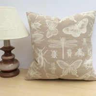 Lovely Dragonfly Cushion in Fawn & Cream