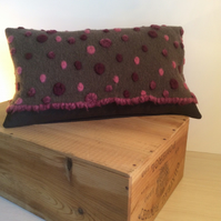 Pink Bobble Scatter Cushion