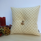 Cream Cushion with Tassel and Deep Button Detail 45cm x 45cm complete with pad